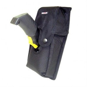Holster with Retainer Flap for Zebra MC9500 angle view