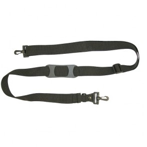 "Adjustable Shoulder Strap with Molded Pad, BreakAway Clip and Plastic Swivel Snaphooks - 1.5"" wide"