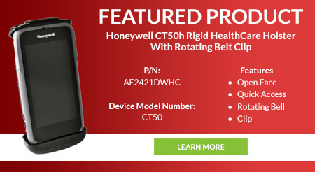 Image of featured product Honeywell CT50h Rigid HealthCare Holster With Rotating Belt Clip