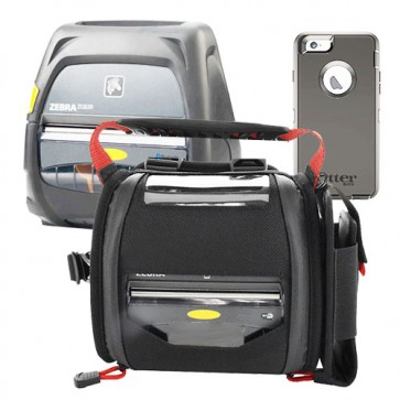 InstaPrint RoutePad for iPhone 6 with Otterbox & ZQ520 printer