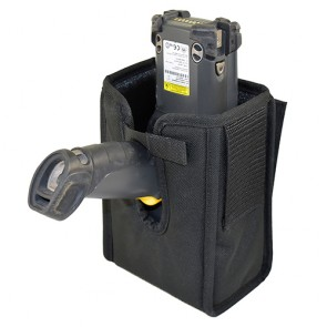 Holster with Fixed Belt Loops & Accessory Pocket for Zebra MC9200 Gun