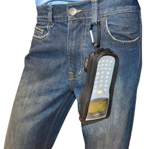 In Use FaceProtect OP Case with Carabiner for HT630
